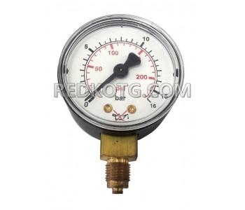Манометър за технически газове за ниско налягане ф.50мм