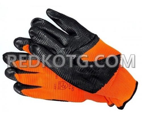 Ръкавици потопени в нитрил EMA ORANGE