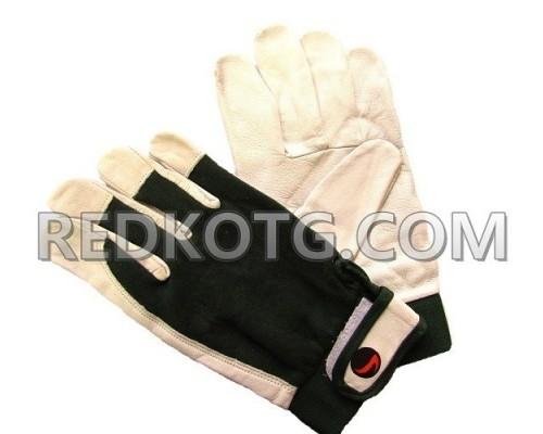 Ръкавици агнешка кожа + трико