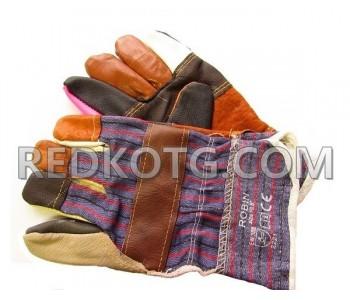 Ръкавици Кожа + плат ROBIN