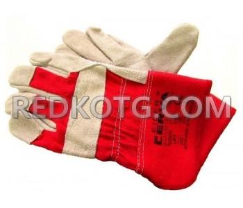 Ръкавици твърд маншет Червени
