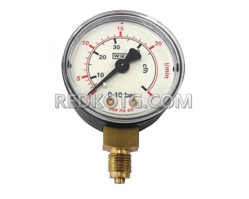 Манометър за СО2/Аргон за дебит ф.50мм